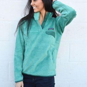 Patagonia women's retool small RARE green blue